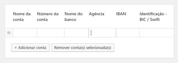 Woocommerce - Campos de cadastro do titular da conta bancária