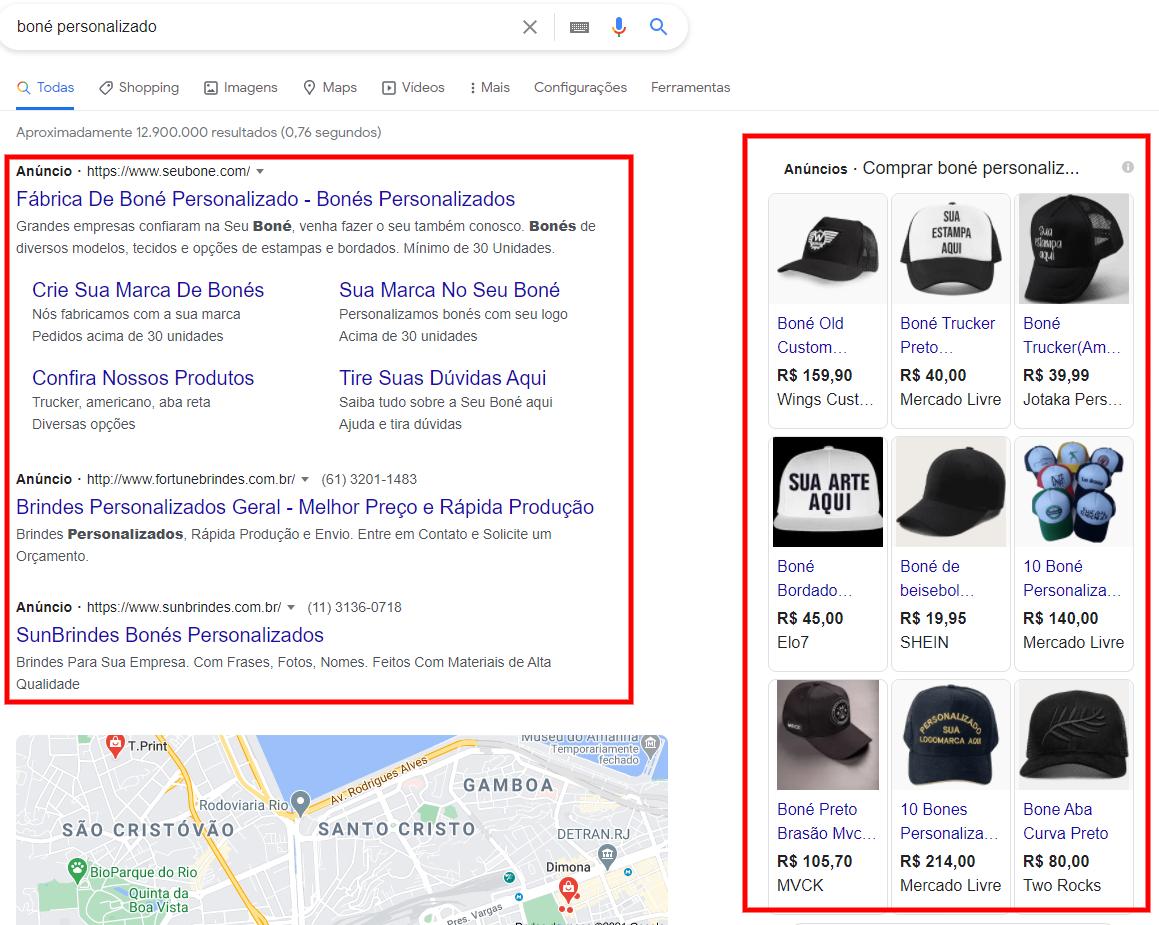 pesquisa google anúncio